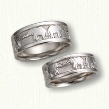 elephants wedding bands